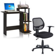Furinno 11192 efficient home laptop notebook computer desk, & Mainstays mesh office chair with arms