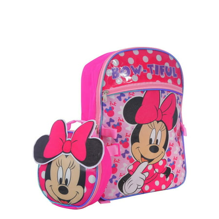 DISNEY MINNIE MOUSE BACKPACK WITH BOW LUNCH BAG](Minnie Mouse Halloween Bag)