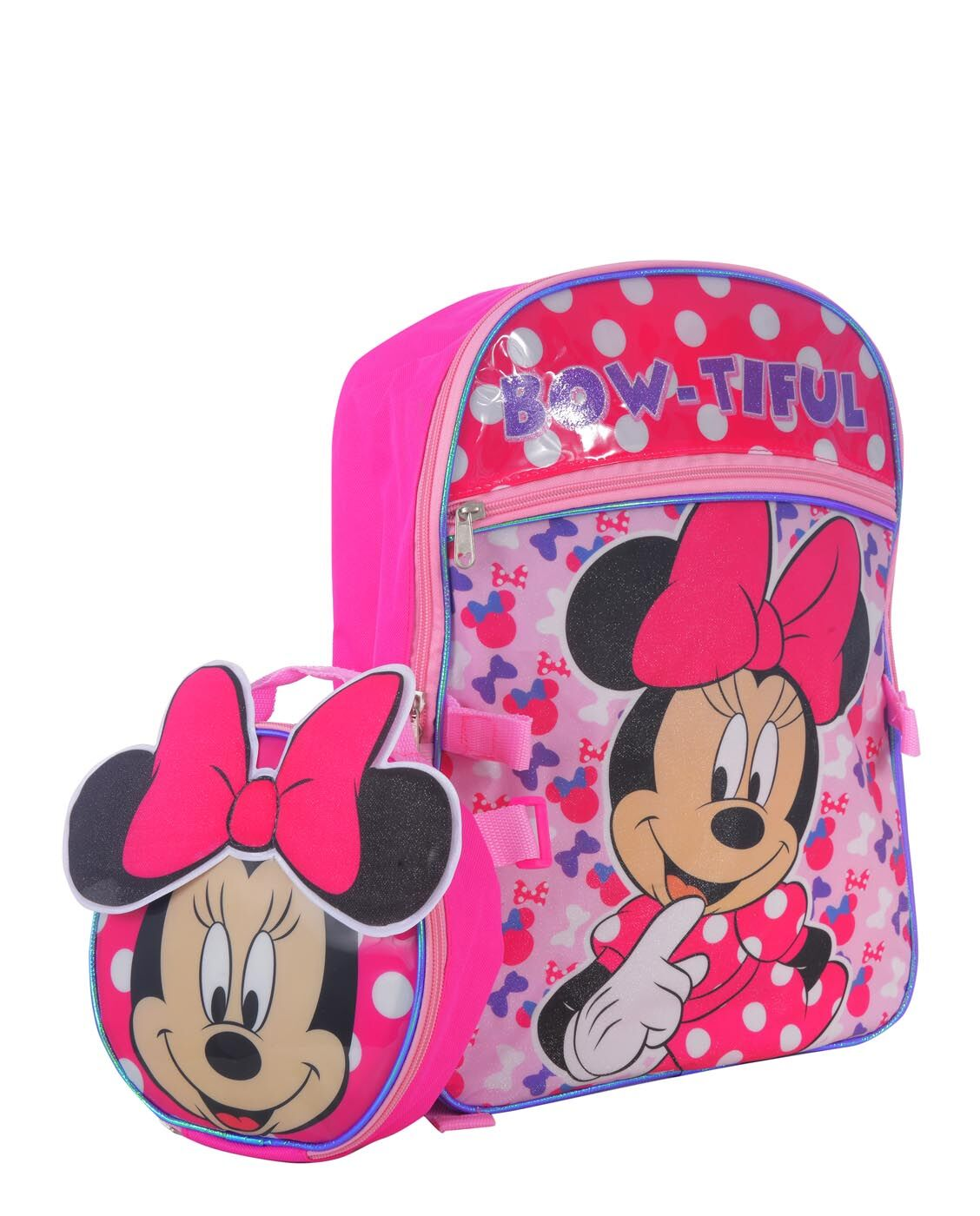 DISNEY MINNIE MOUSE BACKPACK WITH BOW LUNCH BAG