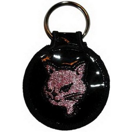 Cat Embroidered Keyfob Keychain KF-0012