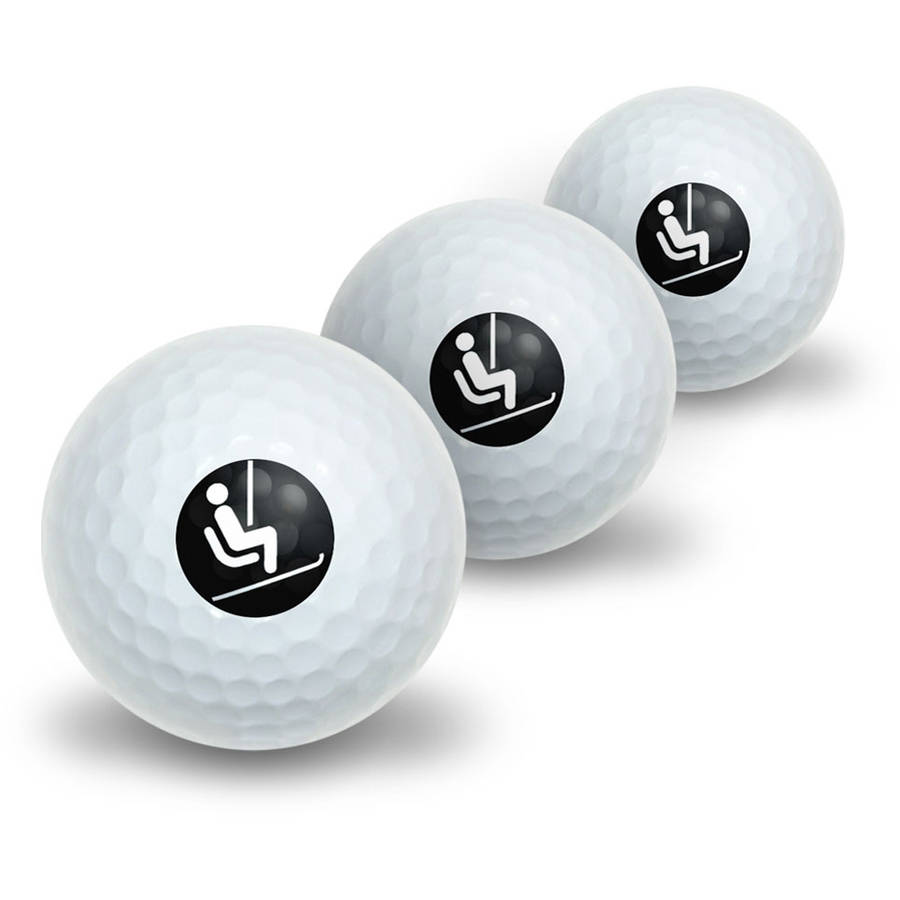 Skiing Ski Lift Novelty Golf Balls, 3pk by Graphics and More