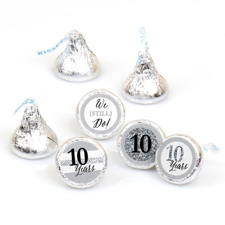 We Still Do - 10th Wedding Anniversary - 108 Round Candy Labels Anniversary Party Favors - Fits Hershey's Kisses](10 Year Wedding Anniversary Party Ideas)