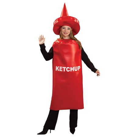 Adult Ketchup Bottle Halloween Costume (Bottle Costume)