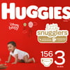HUGGIES Little Snugglers Diapers, Size 3, 156 Count