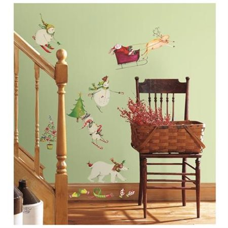 RoomMates Winter Holiday Peel and Stick Wall Decals