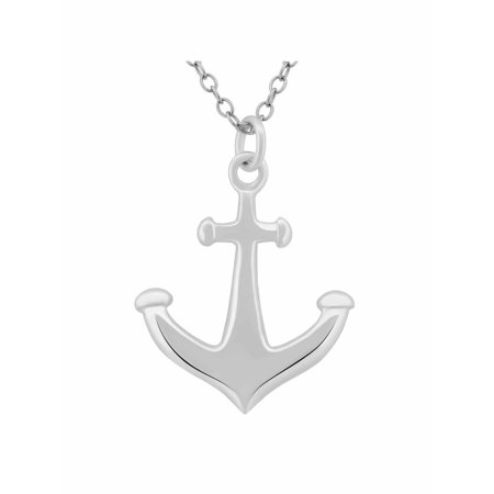 Sterling Silver Anchor Pendant, 18
