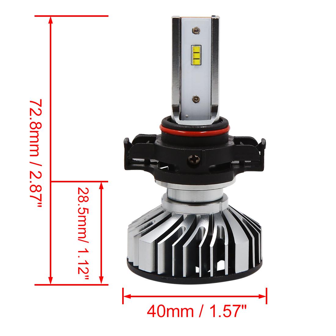 2pcs 1.4A 30W 5202  Headlight White 6000K Bright Greater Visibility Bulb - image 5 de 8