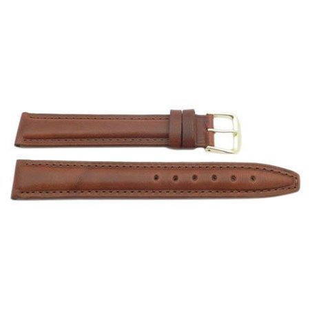 14mm Genuine Leather Oil Tanned Brown Watch Strap