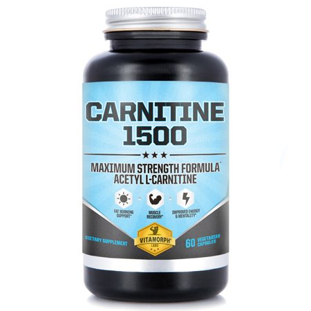 Acetyl L-Carnitine HCl capsules 1500mg Per Serving | Maximum Potency Acetyl L-Carnitine Supplement for Mentality, Energy, Fat Metabolization & Weight Loss | 60 Vegetarian Capsules (Chromium L-carnitine)