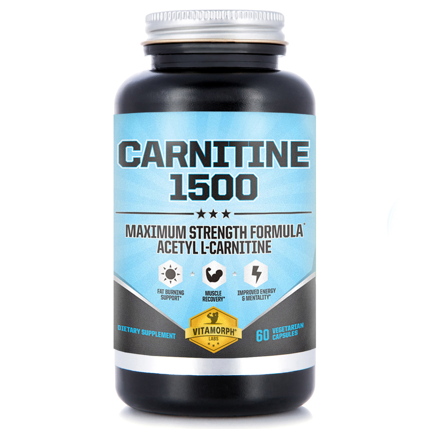 Acetyl L-Carnitine HCl capsules 1500mg Per Serving | Maximum Potency Acetyl L-Carnitine Supplement for Mentality, Energy, Fat Metabolization & Weight Loss | 60 Vegetarian Capsules