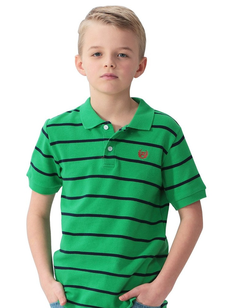 LEO&LILY Big Boys' Kids' Cotton Dressing Striped Polo Shirts