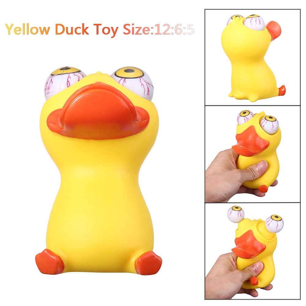 Mosunx Novelties Toys Duck Out Stress Reliever Lovely Cows Squeeze Vent Toys Gift Toy