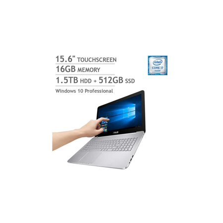 ASUS VivoBook Pro N552VW Touchscreen Laptop - Intel Core i7 - 4GB NVIDIA  Graphics - 4K Ultra HD 16GB Touch Screen Notebook 1 5TB HDD + 512GB SSD