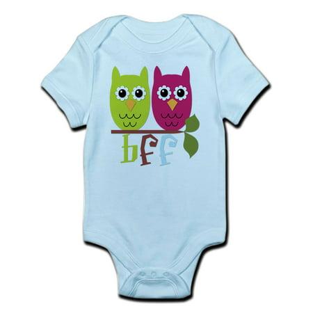CafePress - BFF Best Friends Forever Owls Infant Bodysuit - Baby Light
