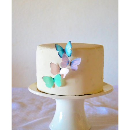 Edible Butterflies - Small Assorted Pastel Set of 24 - Cake and Cupcake Toppers, - Cup Cake Decorations