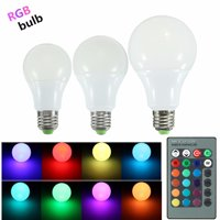 YRLED E27-A70 Poerful High Brightness 16 Kinds Color Change LED Light Bulb with Remote Control (Plastic Coated Aluminum , 6500K, 280LM, 10W, 85-265V,Silver)