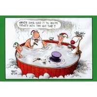 Invite Frosty Funny Humorous Christmas Card