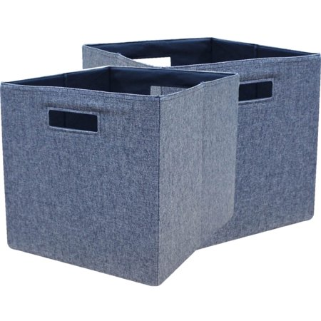 Cheap Organization Bins (Better Homes and Gardens Fabric Cube Storage Bins (12.75