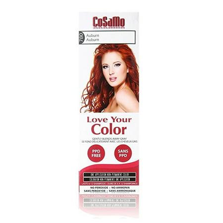 CoSaMo - Love Your Color Non-Permanent Hair Color 780 Auburn - 3 oz. + 3 Count Eyebrow Trimmer
