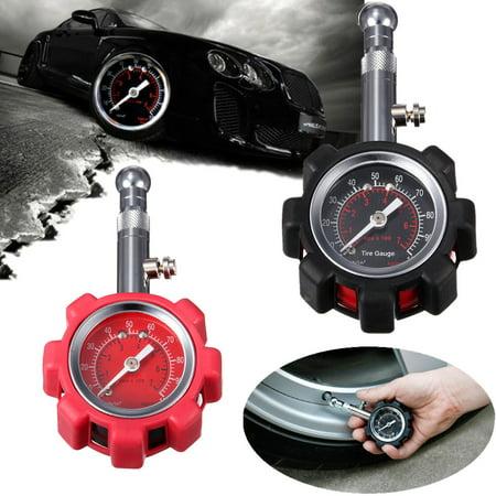 Tyre Tire Air Pressure measuring Gauge Meter Tester 0-100 PSI Car Truck Motorcycle Bike (Motorcycle Tire Gauge)