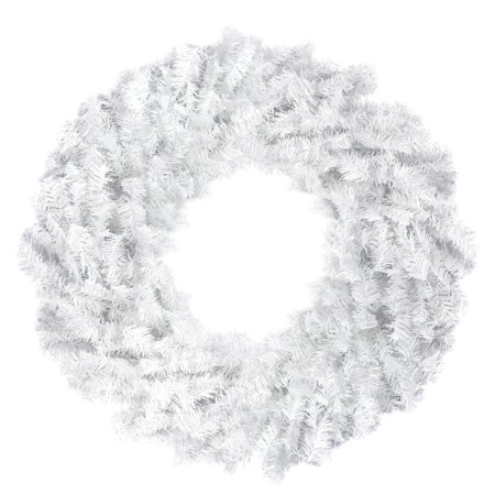 Northlight Artificial White Canadian Pine Unlit Christmas Wreath](Christmas Wreath Supplies)