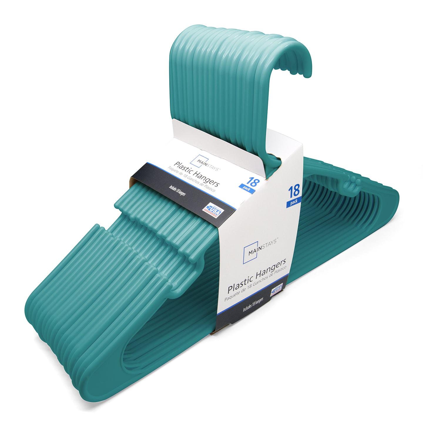 Mainstays Ms 18pk Cool Water Plastic Hangers