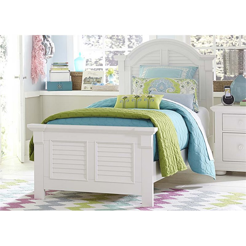 Liberty Furniture Summer House Twin Panel Bed in Oyster White