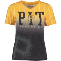 Pittsburgh Pirates Women's Team Color Gradient V-Neck T-Shirt - Black/Gold