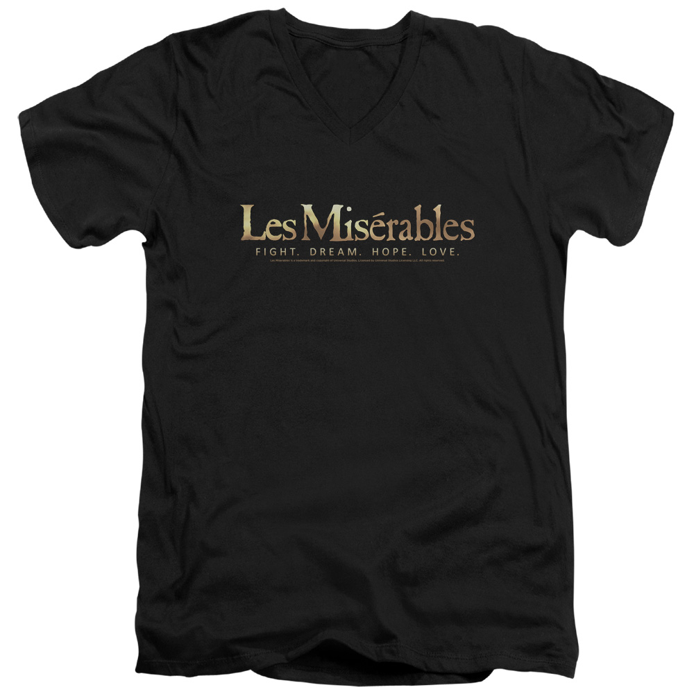 Les Miserables Logo Mens V-Neck Shirt
