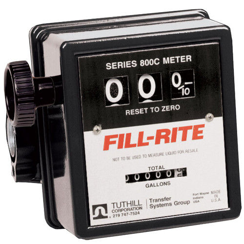 Fill-Rite 807CMK 3/4 in. 3-Wheel Mechanical Flow Meter