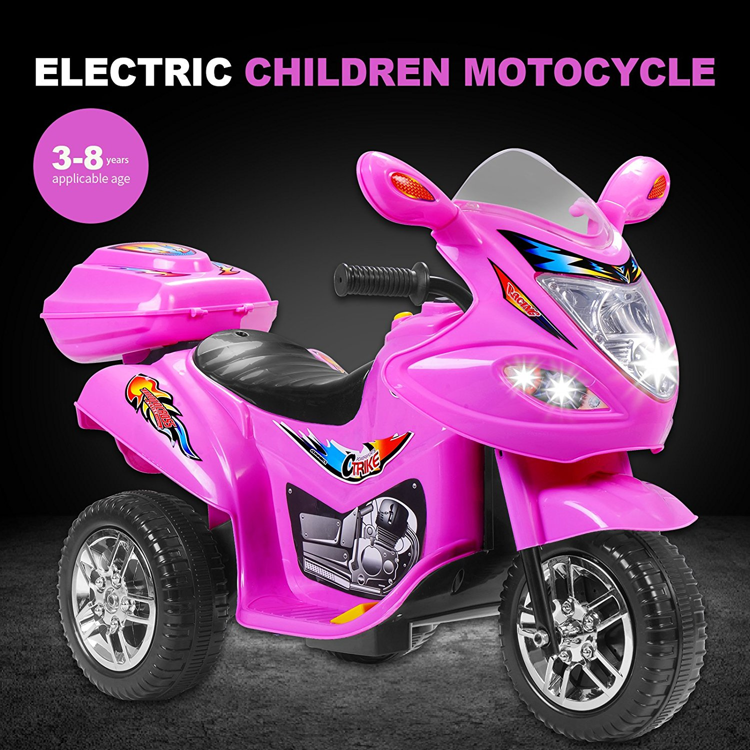 Red 6V Kids Ride on Motorcycle Toy Battery Powered Electric w/Remote Control