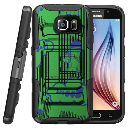 Coyote Rocket (Samsung Galaxy S7 G930 Miniturtle® Clip Armor Dual Layer Case Rugged Exterior with Built in Kickstand + Holster - Booming Rockets )