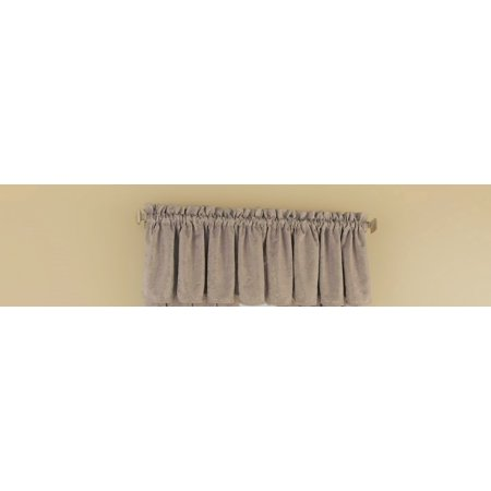 Taupe Scallop (Floral Elegance Scalloped Window Valance (52