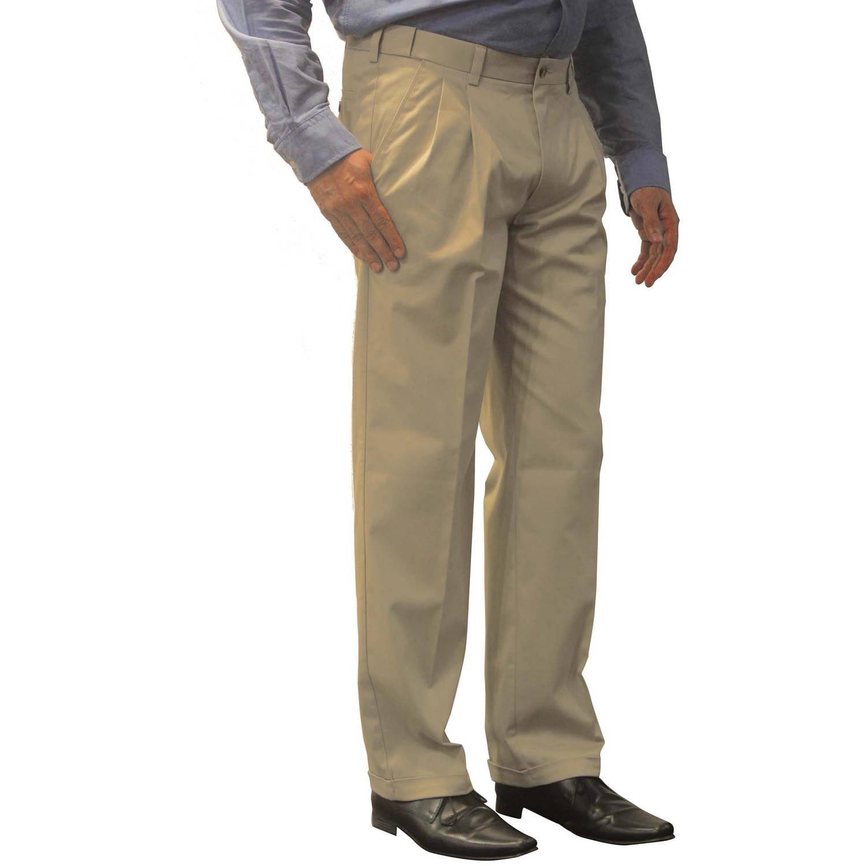 George Men's Premium Pleated Front Khaki Pants