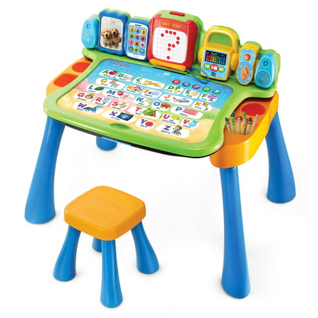 VTech Explore & Write Activity Desk Transforms into Easel & Chalkboard (Indoor Activity Toys)