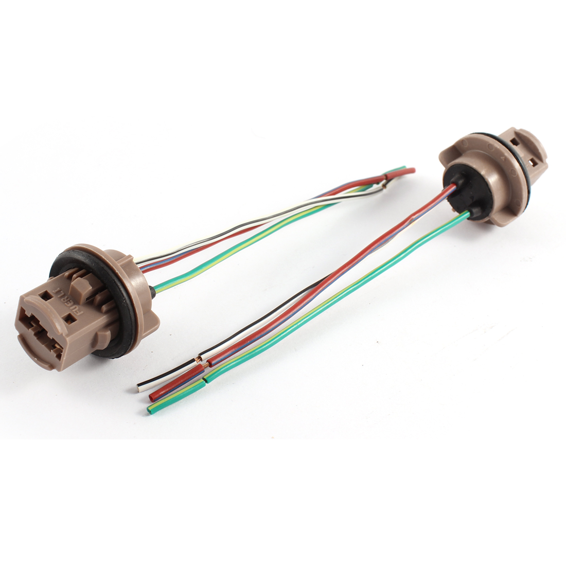 2 PCS T20 7443 Car Auto Light Lamp Pre-wired Wiring Sockets w Three Wires