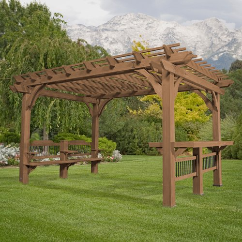 Backyard Discovery Oasis 14 Ft. W x 10 Ft. D Pergola by