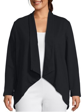 Just My Size Women's Plus Size French Terry Flyaway Cardigan