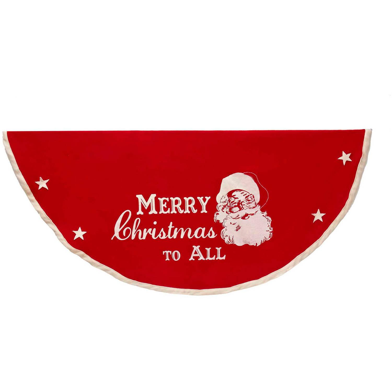 """Kurt Adler 52"""" Fabric Santa Tree Skirt"""