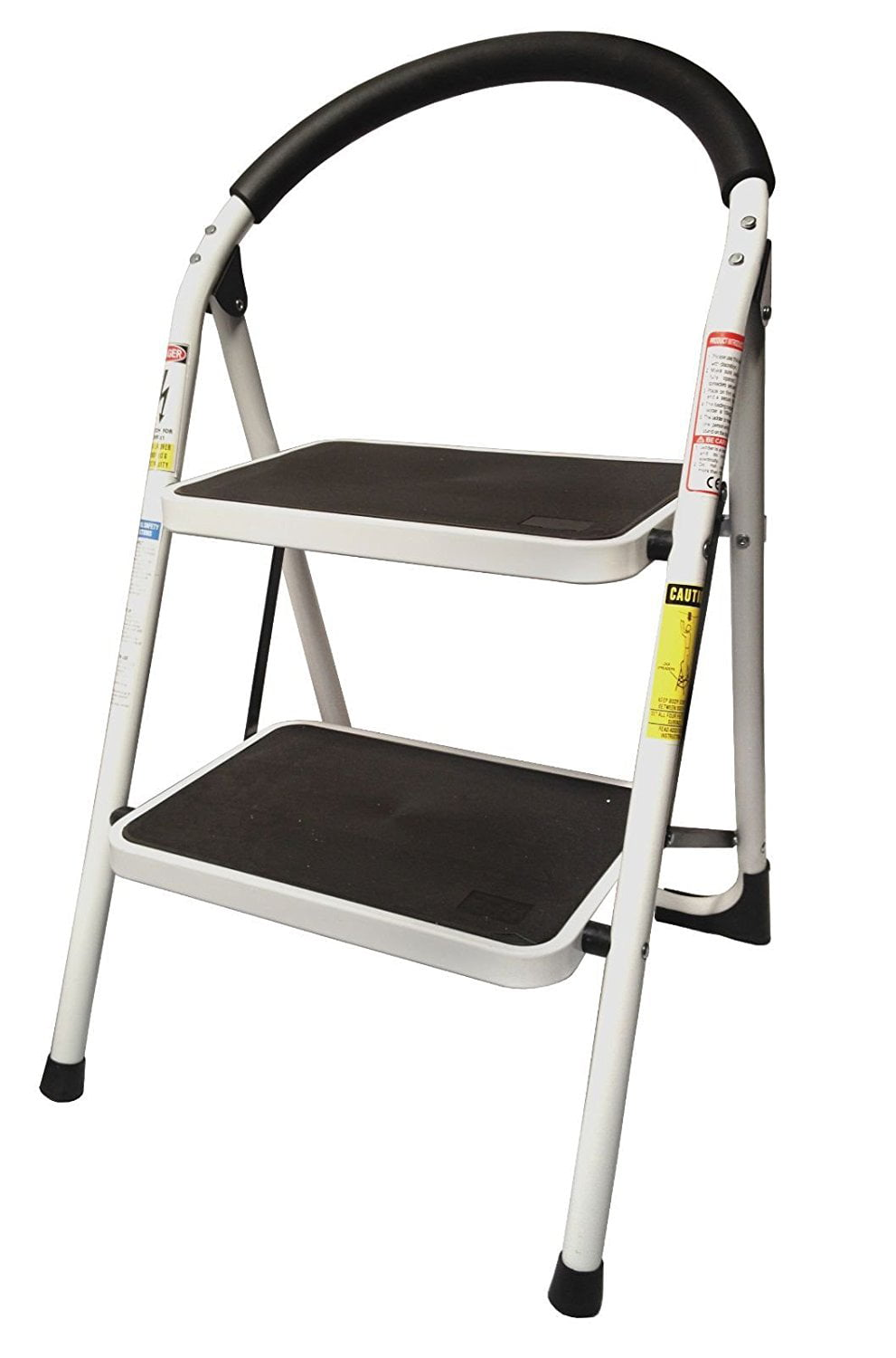 Charmant StepUp Heavy Duty Steel Reinforced Folding 2 Step Ladder Stool   330 Lbs  Capacity   Walmart.com