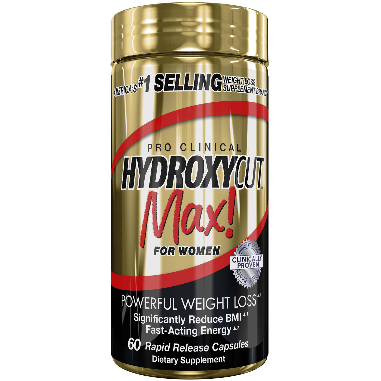 Pro Clinical Hydroxycut Max! For Women Weight Loss Supplement Rapid Release Capsules,...