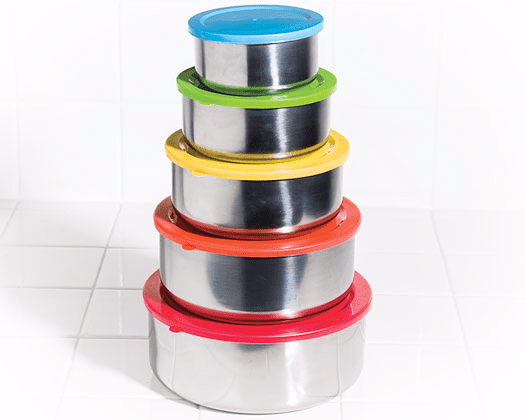 5Pc Mixing Bowls With Multicolored Lids Multi Color by Unbranded