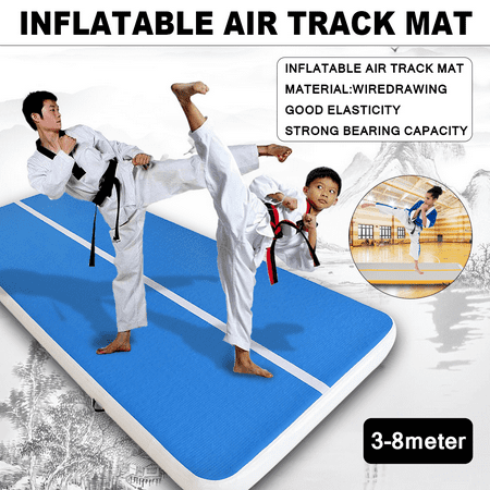 Multiple Sizes Inflatable Training Mat Air Floor Exercise Mat Landing Mat Tumbling Mat Air Track Gymnastics Mat Yoga Mat for Practice Martial Arts, Camping Training, Water Floating