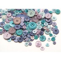 Assorted Ocean Blue Buttons: 1/2 pound