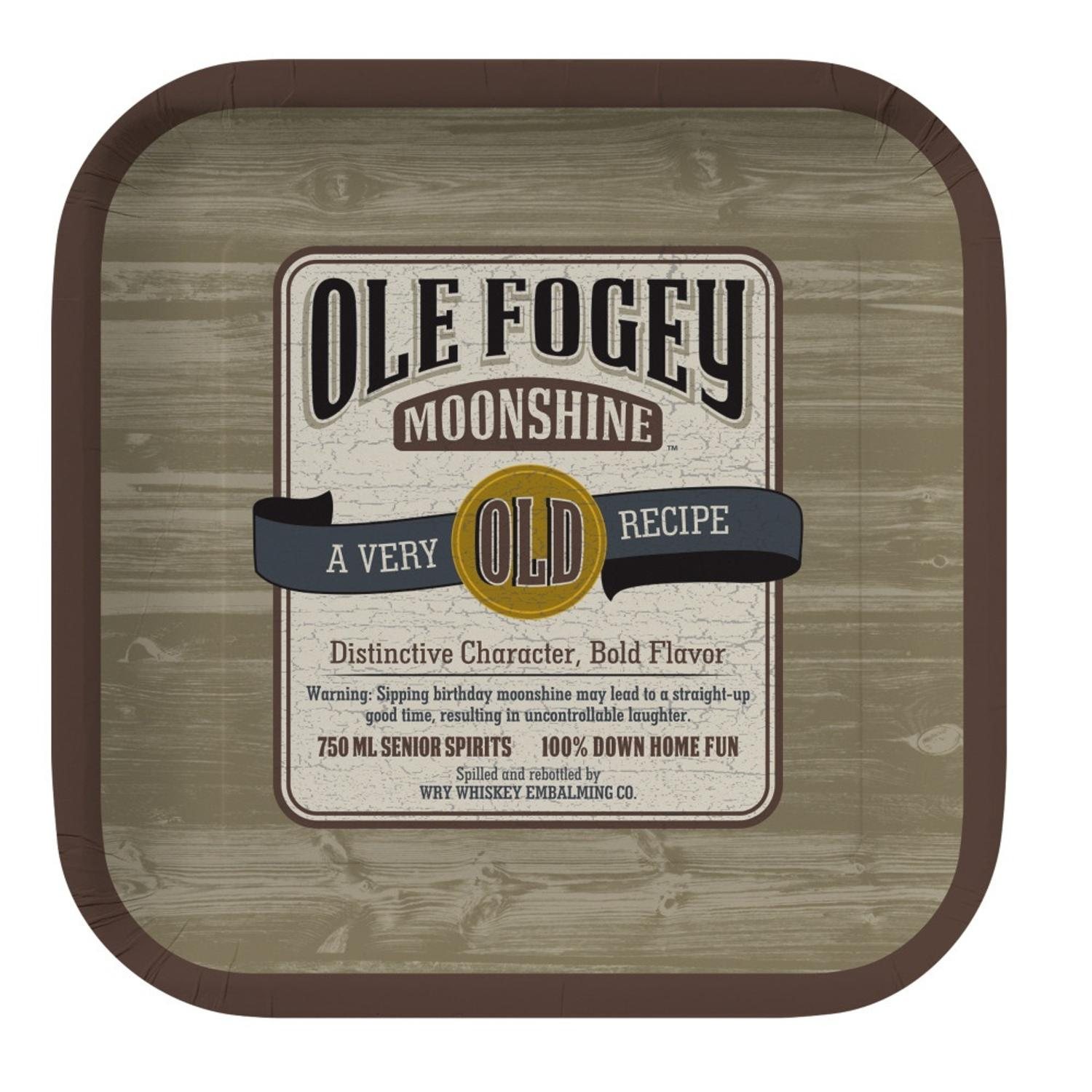 """Club Pack of 96 Brown """"Ole Fogey Moonshine"""" Square Paper ..."""