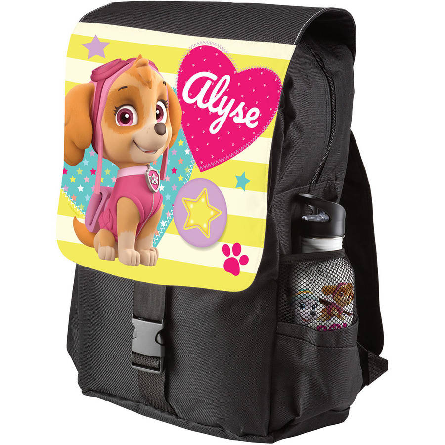 Personalized Paw Patrol Skye Youth Flap Backpack