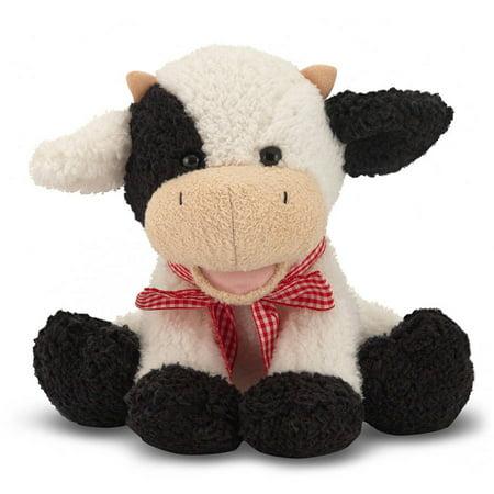 Melissa   Doug Meadow Medley Calf   Stuffed Animal Baby Cow With Moo Sound Effect