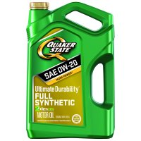 Quaker State Ultimate Durability 0W-20 Full Synthetic Motor Motor Oil, 5 qt.