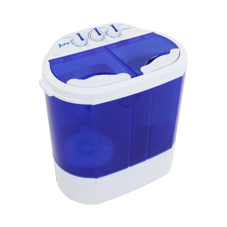 Ktaxon Compact Mini Twin Tub Washing Machine and Spin Cycle w/ Hose,Wash 5.6LBS+Spin 4.4LBS Capacity