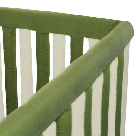 "Go Mama Go Designs Sage & Khaki 52"" x 6"" Reversible Teething Guard"